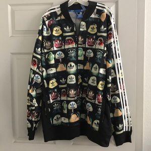 Men's Adidas All Over sweatshirt Size 4XL